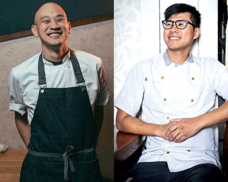 Chef Tim Ma (left) and Chef Kevin Tien