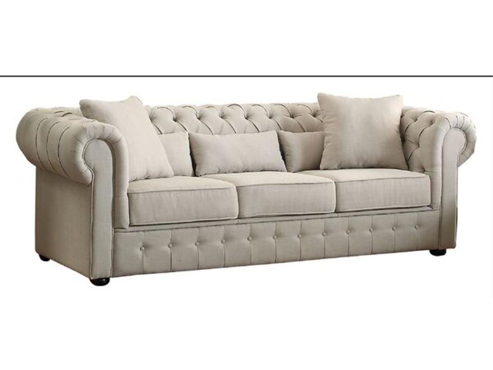 Rosdorf Park Waltman 98.5-inch Chesterfield Sofa with Reversible Cushions