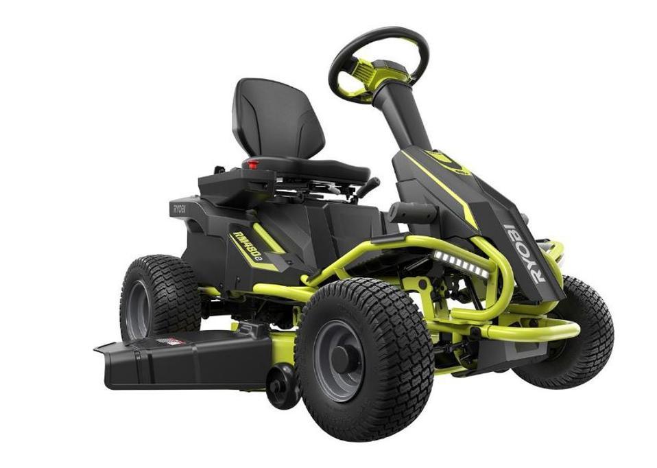 Ryobi 38-inch Electric Rear Engine Riding Lawn Mower