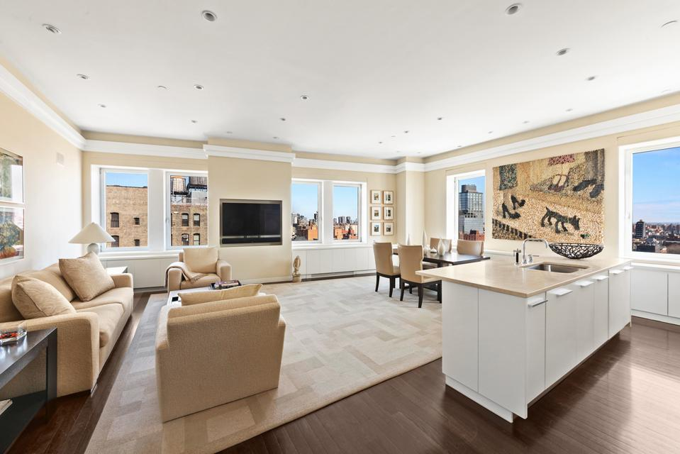 living room inside nolita manhattan apartment 225 Lafayette Street, Apt 15D New York