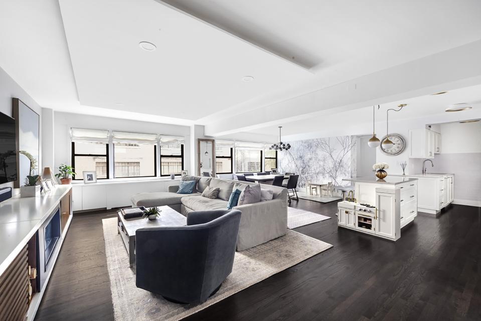 living room kitchen manhattan greenwich village apartment 55 East 9th Street, Apt 3M nyc