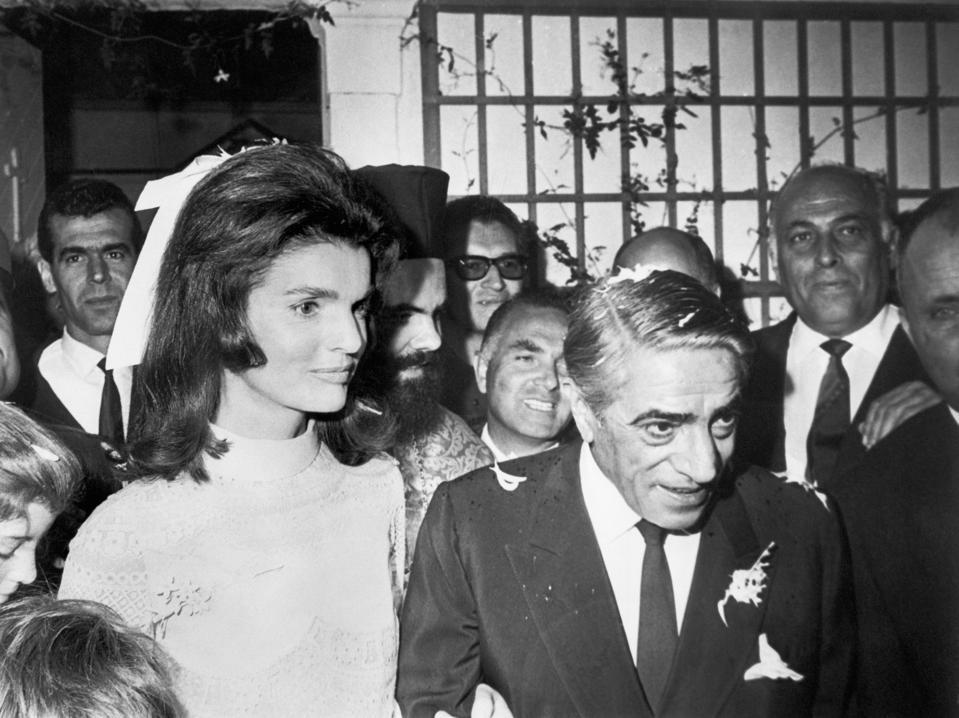 Newlyweds Jacqueline and Aristotle Onassis