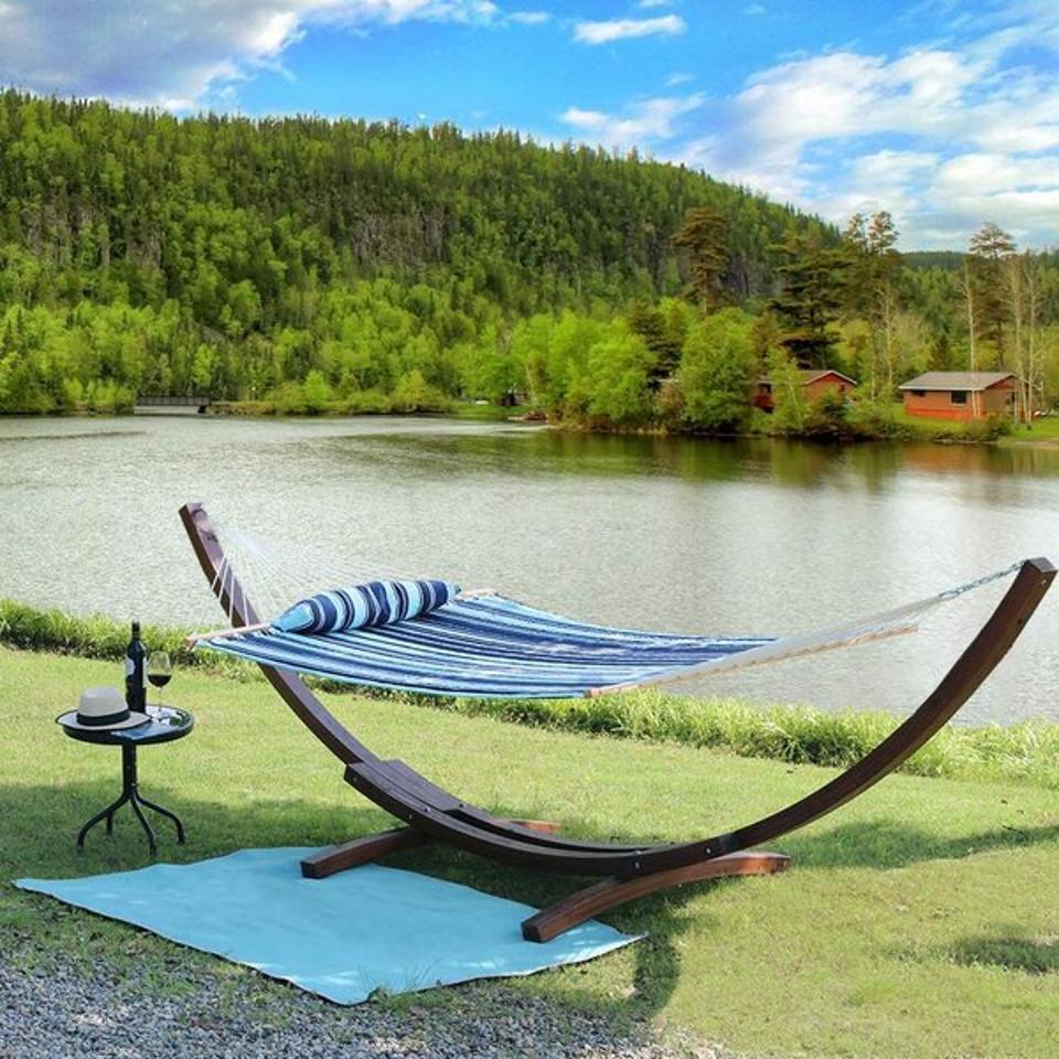Outdoor furniture deals: Arlmont & Co. Bennett Double Camping Hammock & Reviews | Wayfair