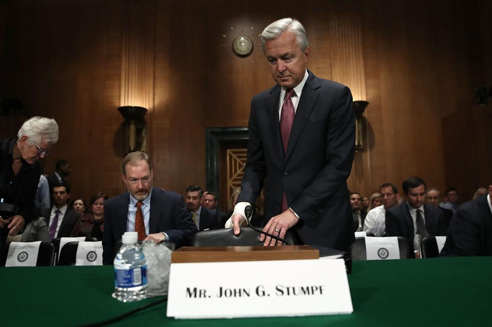 Former Wells Fargo CEO Hit With $17.5 Million Fine, Barred From Banking Industry