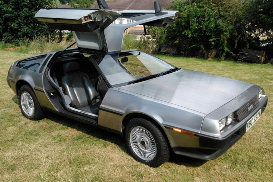 A 1982 DeLorean DMC-12