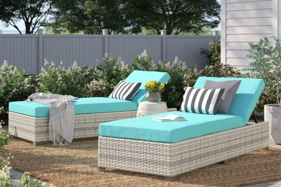 Sol 72 Outdoor™ Falmouth Reclining Sun Lounger Set with Cushions & Reviews | Wayfair
