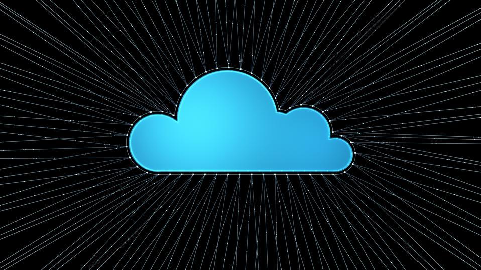 三維渲染的雲端圖標