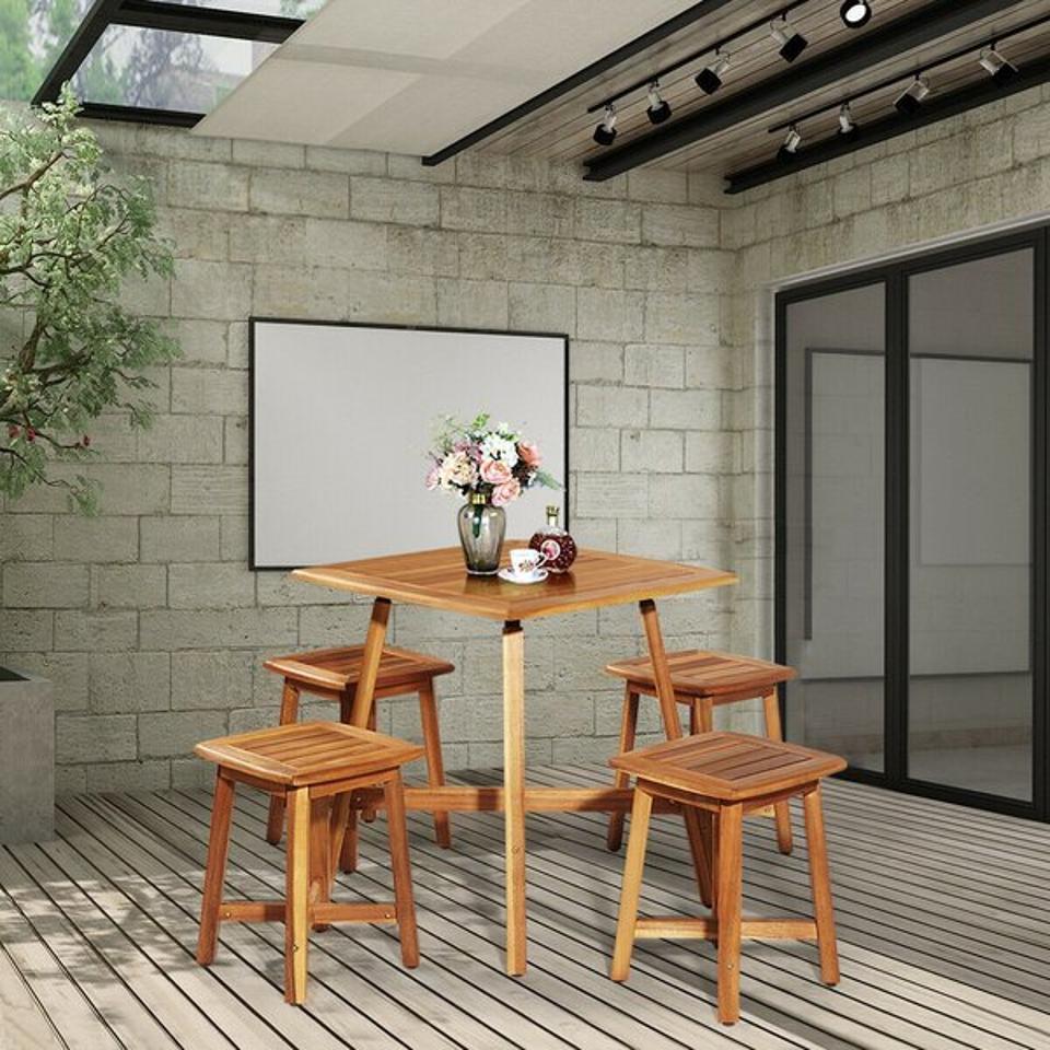 Arlmont & Co. Jase Patio 5 Piece Dining Set | Wayfair