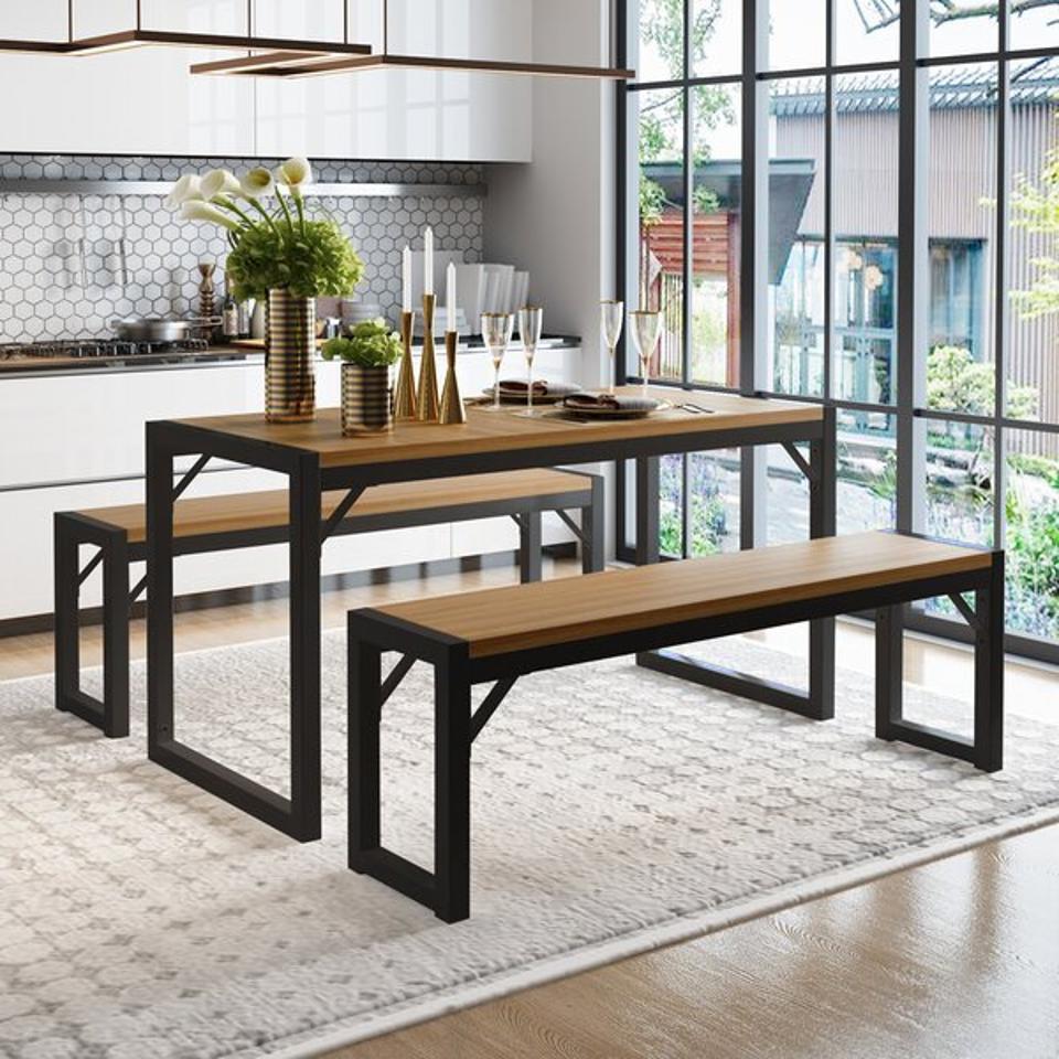 Ebern Designs Ezzah 3 - Piece Dining Set & Reviews | Wayfair
