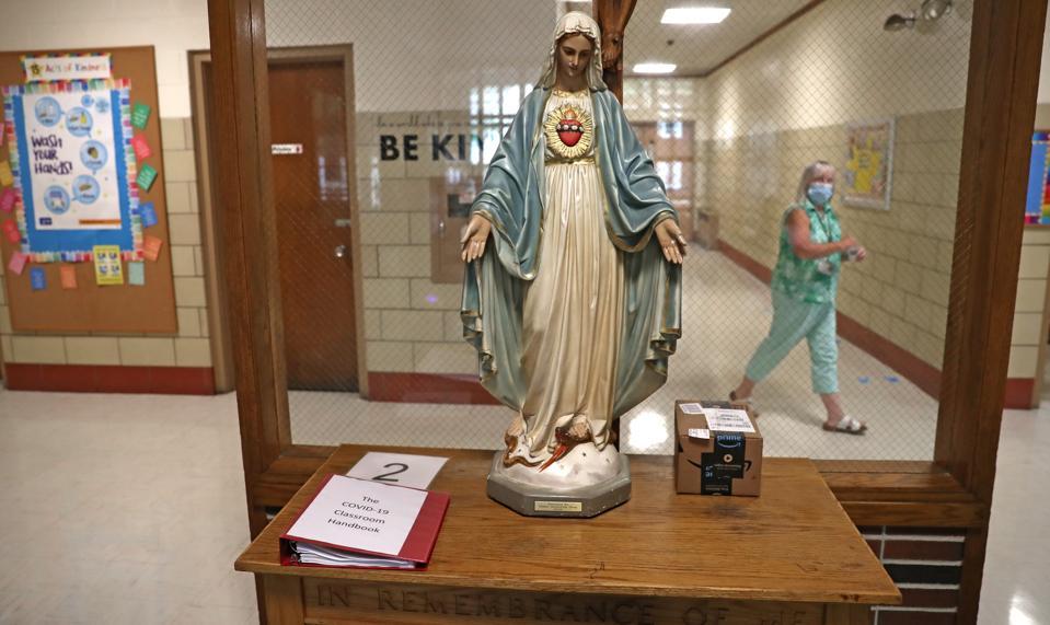 Students Return To Classrooms at Boston Catholic Schools