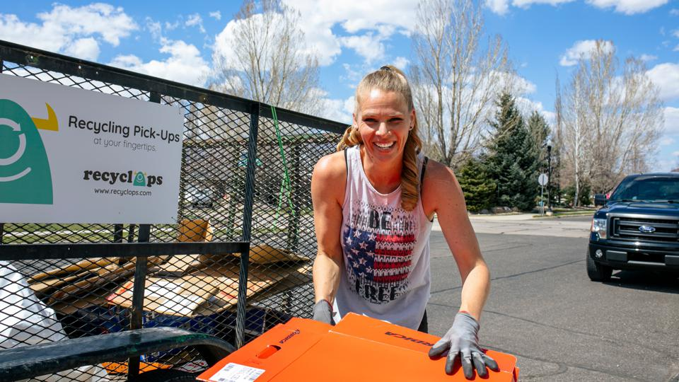 Sara Oliver, a Recyclops driver in Wasatch County, Utah