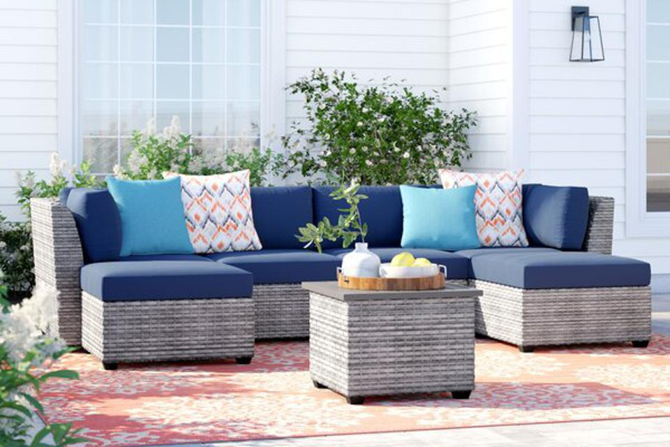 Way Day 2021: Sol 72 Outdoor™ Kenwick 7 Piece Sectional Seating Group with Cushions & Reviews | Wayfair