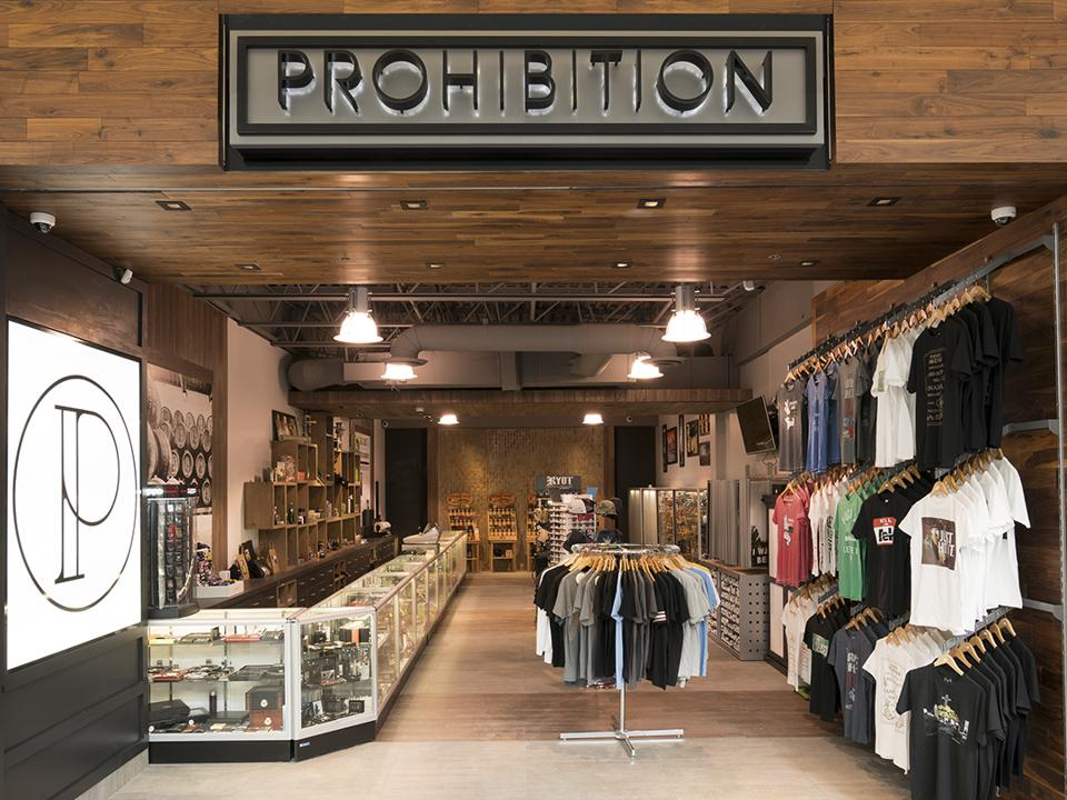 Storefront of Prohibition Counter-Culture Club, Quebec, Canada