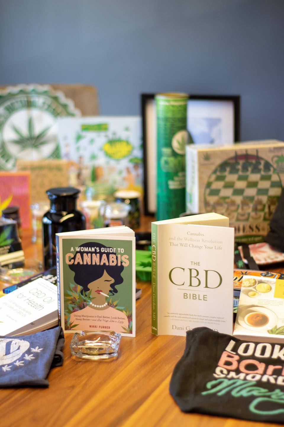 Cannabis books and clothing