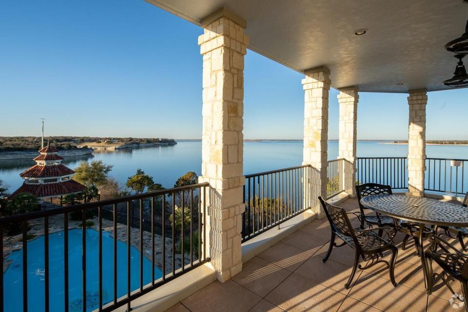 Upper terrace water view