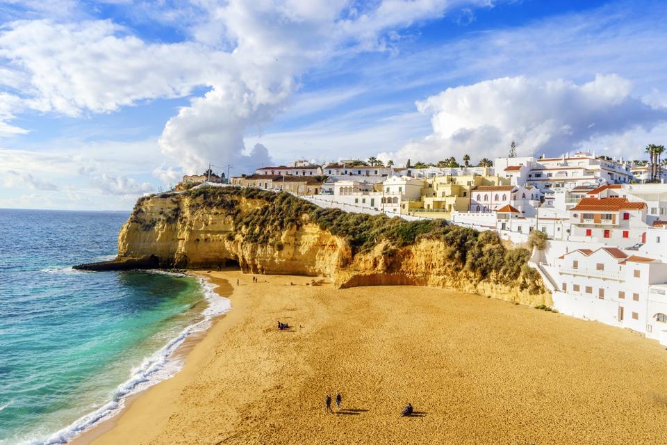 cheap travel europe summer Carvoeiro, Algarve, Portugal
