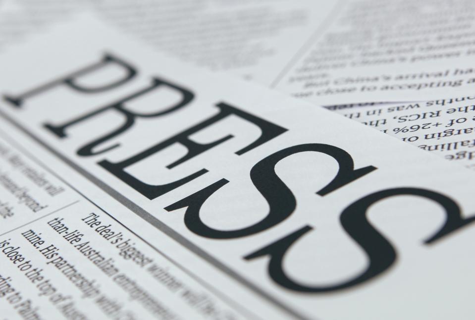 Press headlines concept