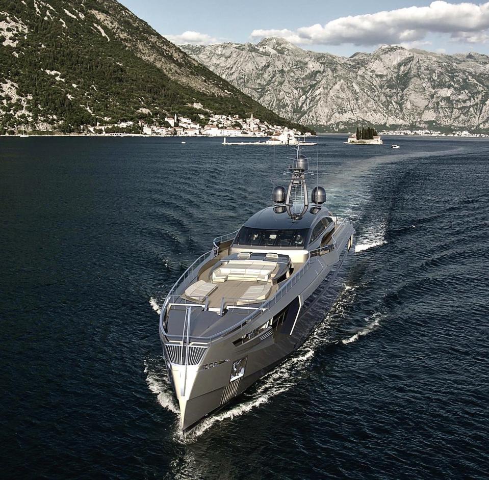 This Rossinavi Yacht has an interior designed by Malibu designer and developer Scott Gillen