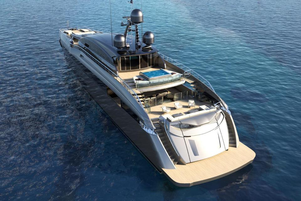 This yacht combines the best of land-based and yacht-based design.