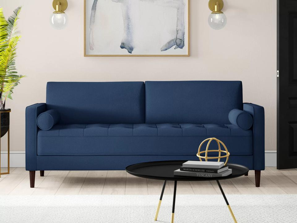 Way Day deals: Blue sofa in living room