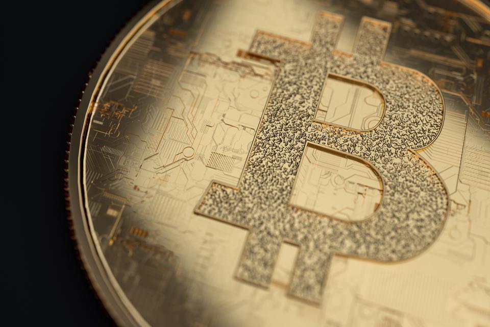 bitcoin ,3d render