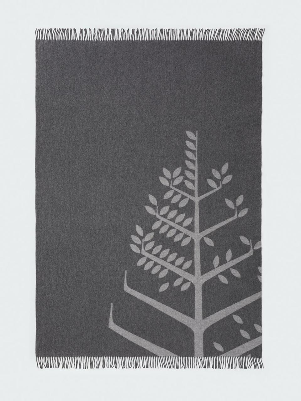 blanket with tree