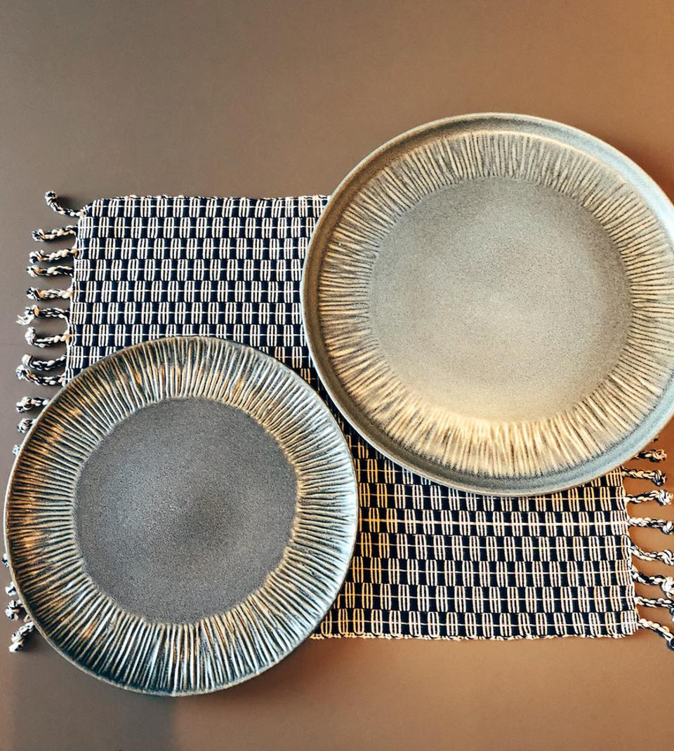 two dinner plates