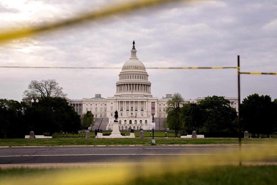 U.S. Capitol At Sunrise In D.C.