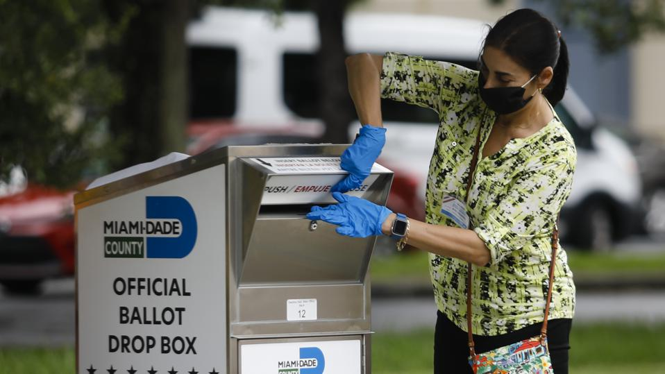 Election ballot drop box in Florida