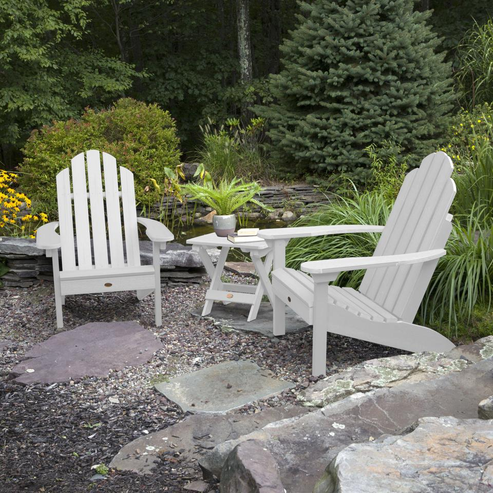 Alcott Hill® Highpoint Plastic Adirondack Chair with Table & Reviews | Wayfair