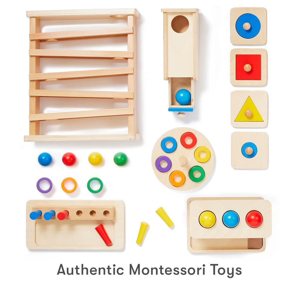 The Montessori materials in Level 4 encourages your baby to experiment with cause and effect to boost their memory and problem-solving skills.