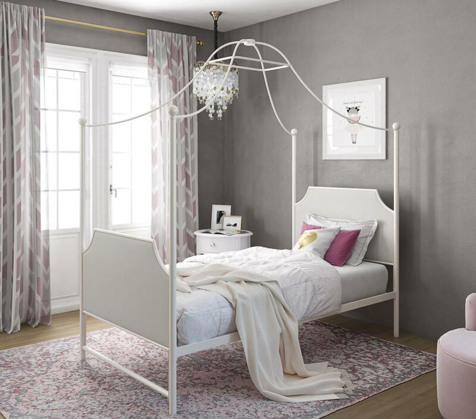 Little Seeds Monarch Hill Clementine Twin Canopy Bed Wayfair Flash Deals