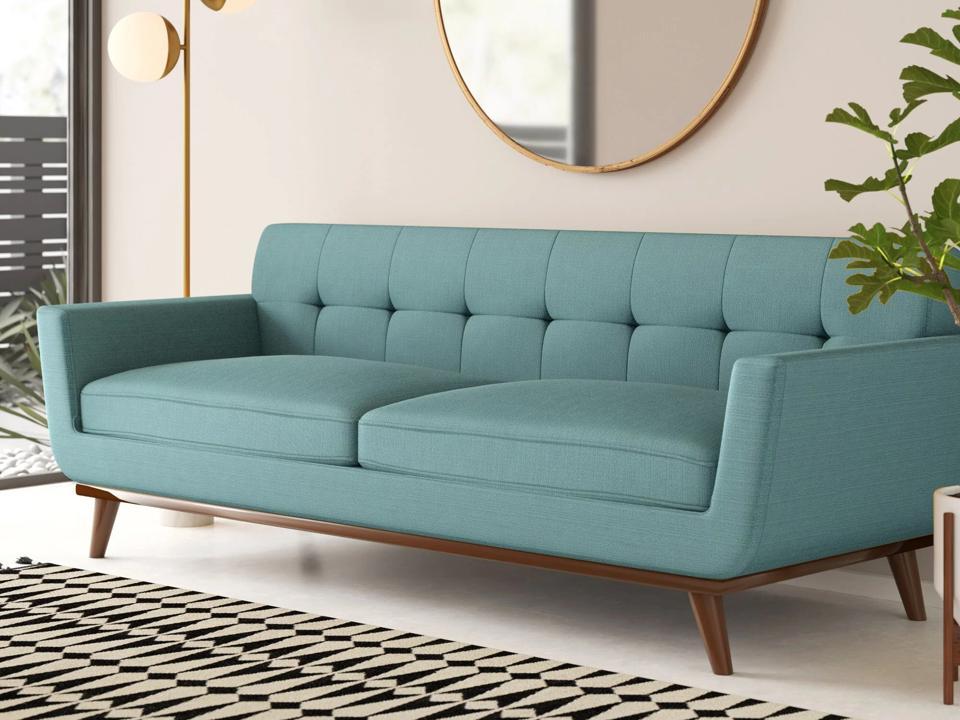 Way Day 2021: AllModern Acevedo 90.5″ Square Arm Sofa & Reviews | Wayfair