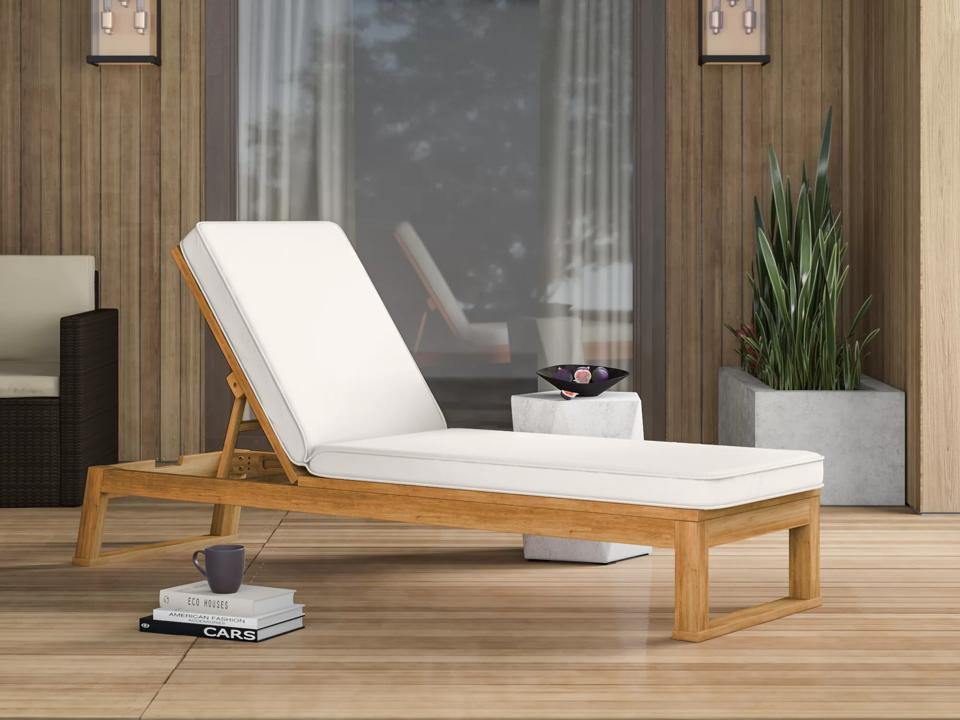 Way Day 2021: Mercury Row Faunce Reclining Chaise Lounge with Cushion