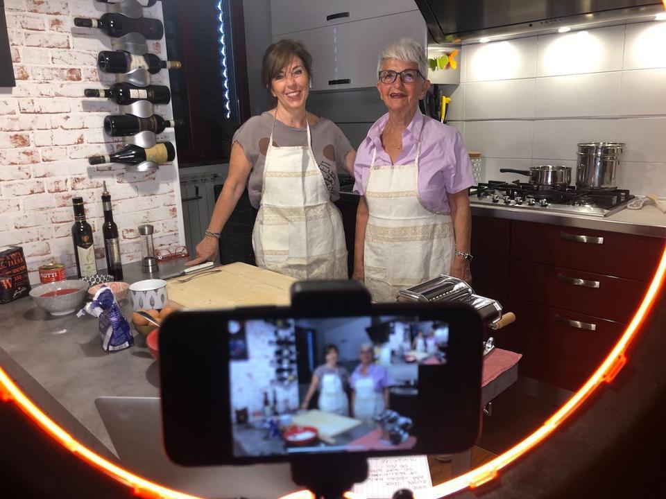 Cristiana Chiacchierìni and her mother Vera host a virtual handmade pasta class