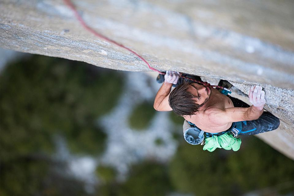 Kevin Jorgeson on the Dawn Wall.
