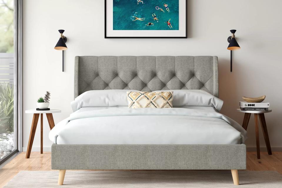 Way day: Novogratz Her Majesty Tufted Upholstered Low Profile Platform Bed & Reviews | Wayfair