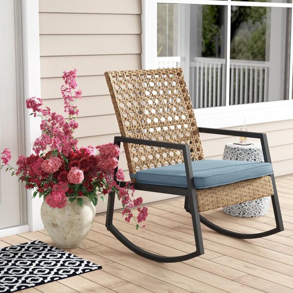 Way Day 2021: Ivy Bronx Shifflett Rocking Chair with Cushions & Reviews | Wayfair