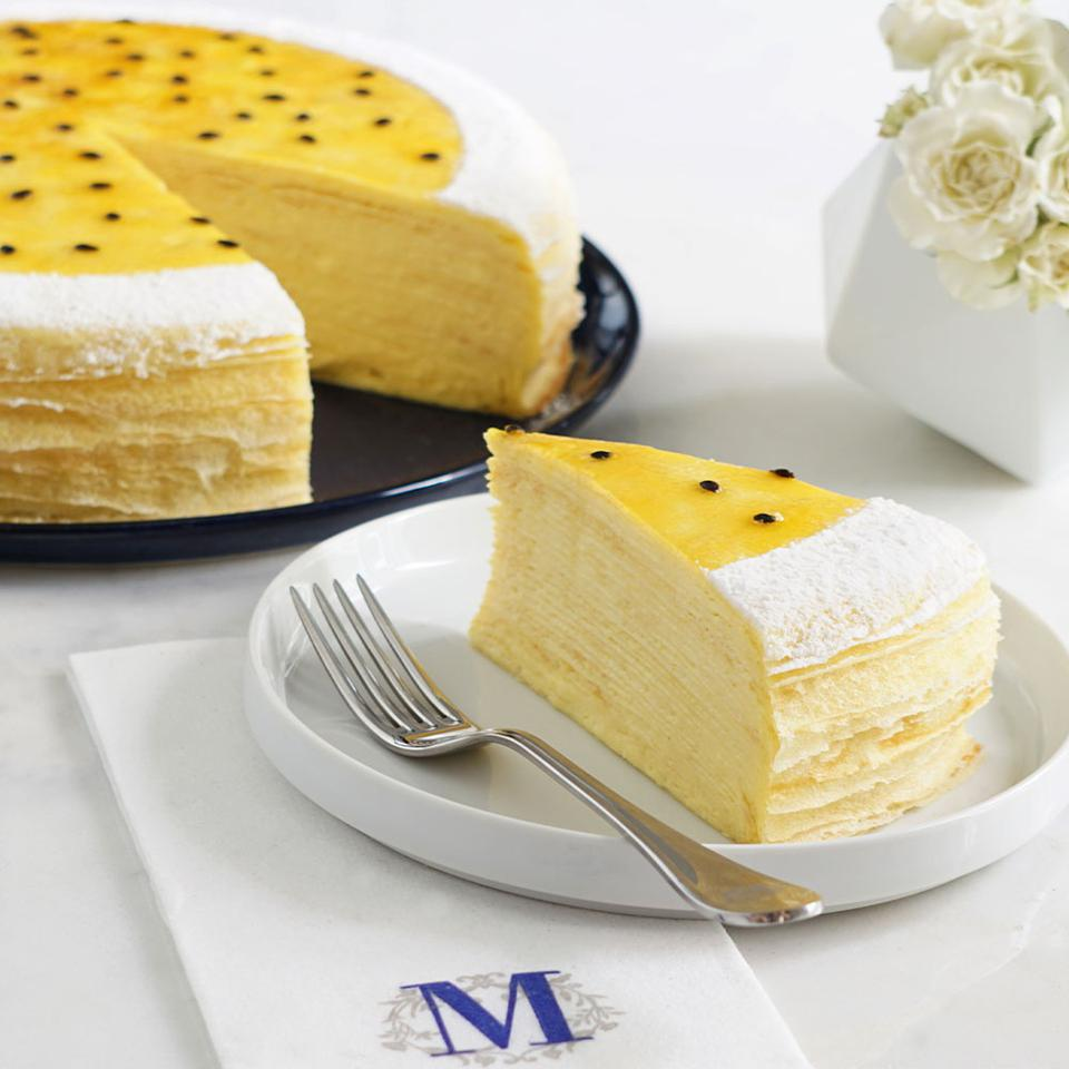 Lady M's Passionfruit Mille Crêpes cake