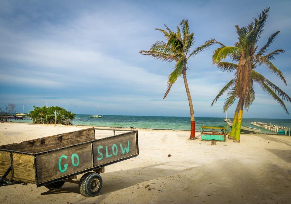 Caye Caulker Belize retire quit