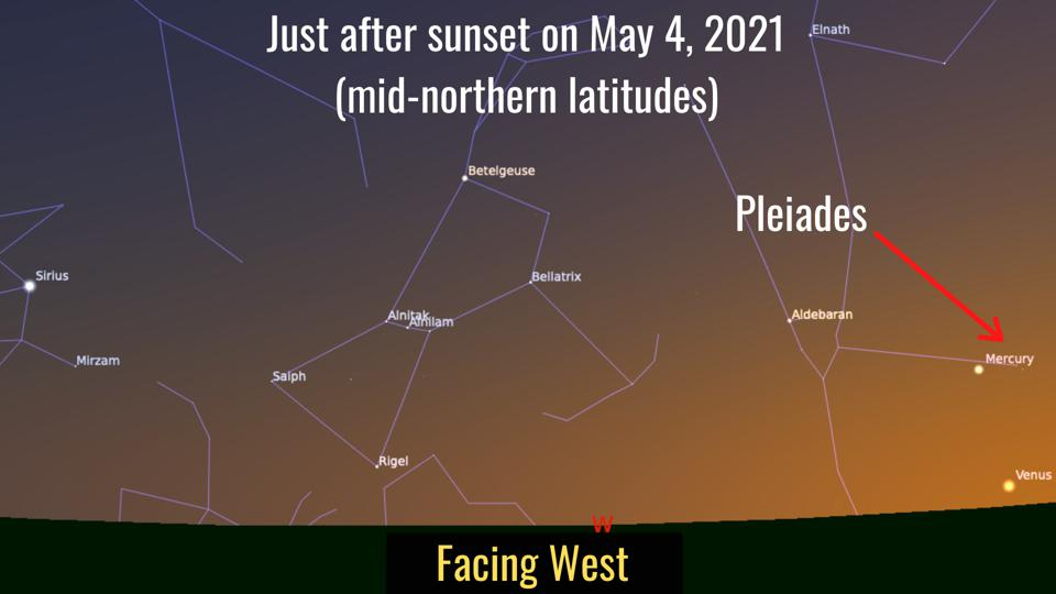 Tuesday, May 4, 2021: Mercury in the Pleiades
