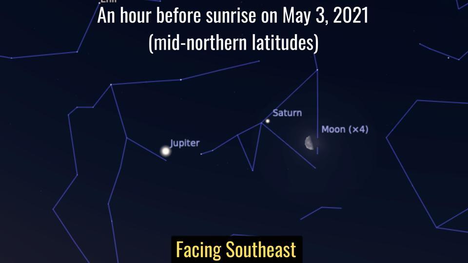 Monday, May 3, 2021: Last Quarter Moon and Saturn