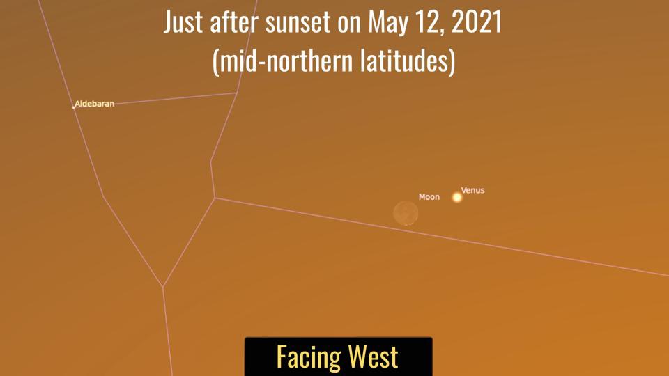 Skychart for Wednesday, May 12, 2021.