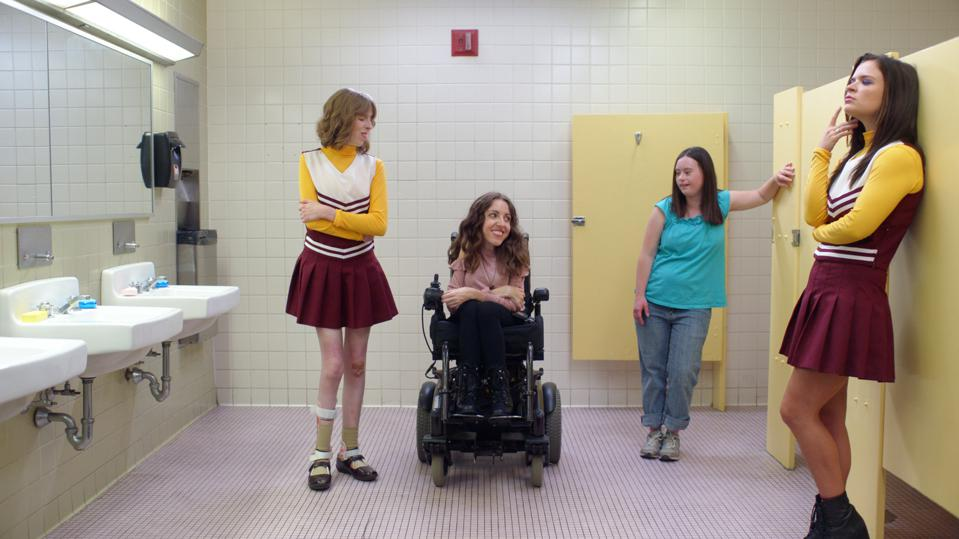 Beth hatches her plan as Sage and friends look on by in the school bathroom