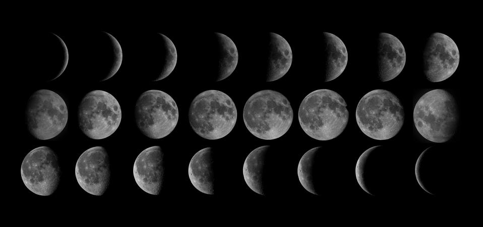The phases of moon.