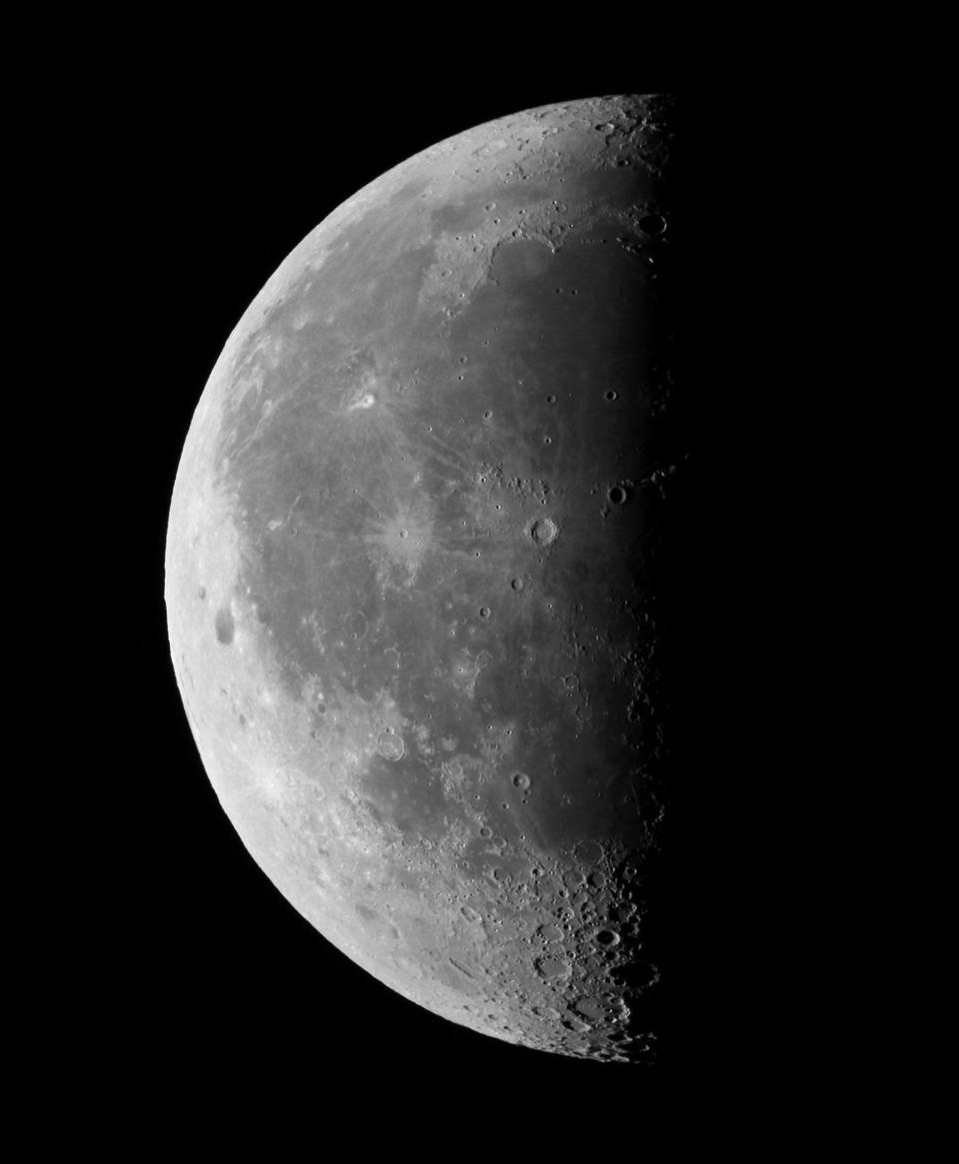 A Last Quarter Moon.