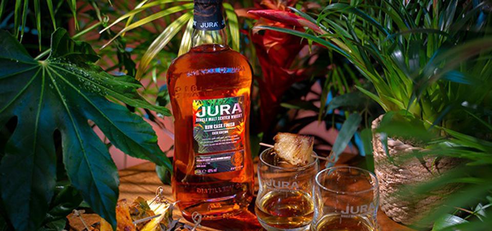 Jura single malt scotch whisky rum
