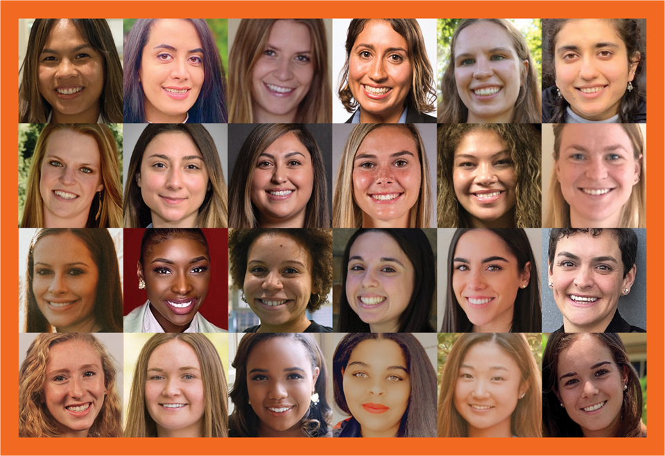 Photos of the 24 fellows for WiST's 2021 program.