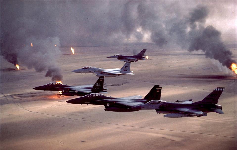 During Operation Desert Storm.