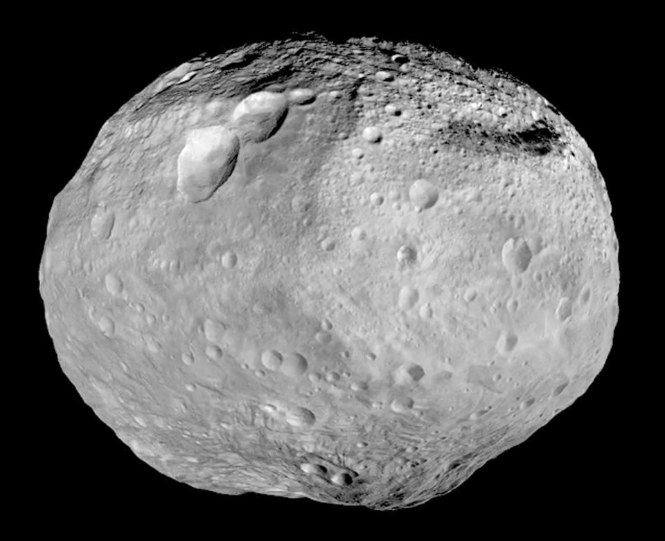 As NASA's Dawn spacecraft takes off for its next destination, this mosaic synthesizes some of the best views the spacecraft had of the giant asteroid Vesta. Dawn studied Vesta from July 2011 to September 2012. The towering mountain at the south pole